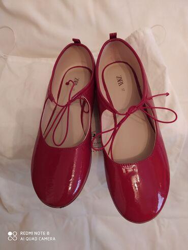 Dečije Cipele i Čizme - Crvenka: Baletanke zara -crvene lakovane za princeze br 37,dva puta obuvene