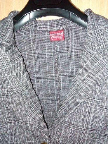 Sivi retro sako. naznačeno i s i 38 veličina,pamuk - Beograd - slika 2