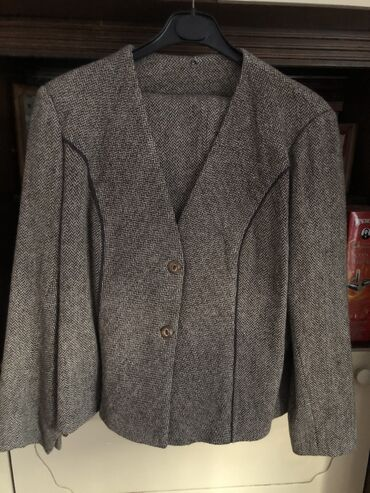 Pantalone zimske - Srbija: Zimski komplet sako i pantalone, braon-bež dezen, veličina XL, u