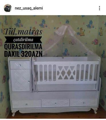 qəfəs - Azərbaycan: Beşik525 Paxlava🧿Körpələriniz üçün beşik çatdırılma quraşdırılma tül