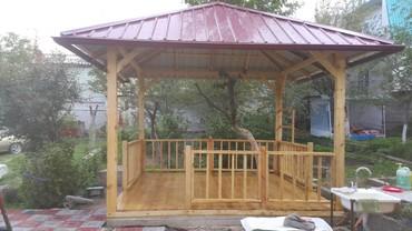 Печи и камины - Кыргызстан: Беседка на даче или во дворе дома — место для чаепития и посиделок в