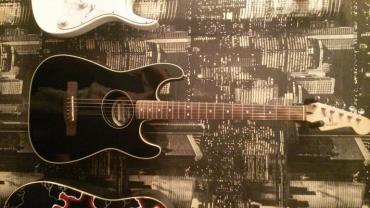 продажа эл инструмента в Кыргызстан: Продаю комплект . Гитара: электроакустическая Fender Stratocoustic