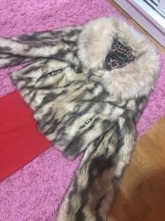 Astrahan bunda - Srbija: Bundica za S velicinu i crvena haljina kratkih rukava rebrasti pamuk