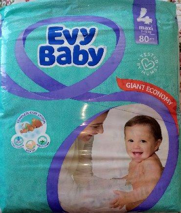Evy baby 4 maxi pelene 7-18kg, 80 kom, NOVO neotvoreno