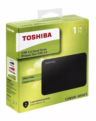 жесткий диск внешний toshiba 1 tb в Кыргызстан: Внешний жёсткий диск Toshiba1TB Canvio Basics