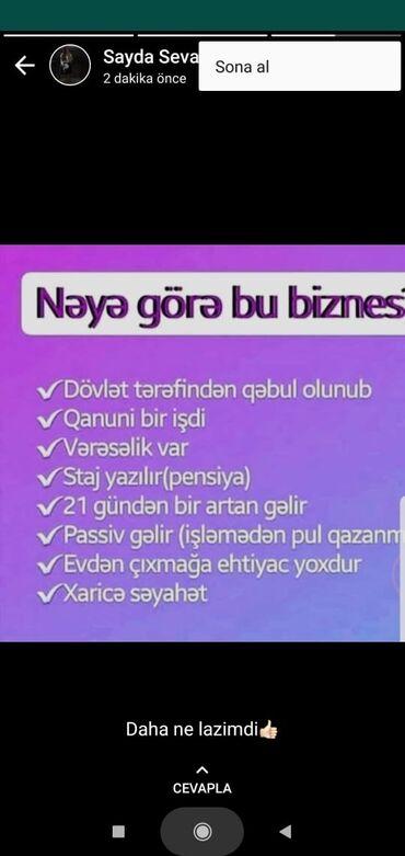 daye isi elanlari - Azərbaycan: Şəbəkə marketinqi məsləhətçisi. İstənilən yaş. Natamam iş günü