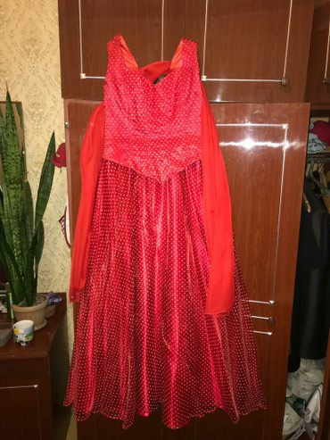 размер-44 в Кыргызстан: Вечернее бальное платье, очень красивое, размер 42-44, корсет