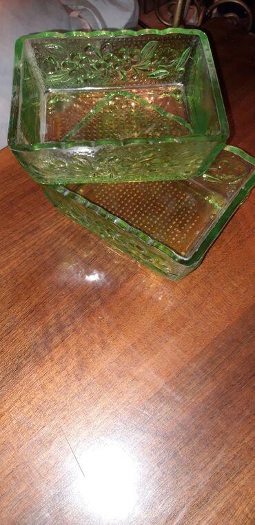 Салатницы две штукисоветское цветное стеклопродам салатницы две