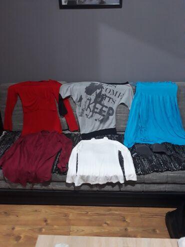 2 majice dugih rukava,kosulja teranova,bela polurolka,letnja haljina i