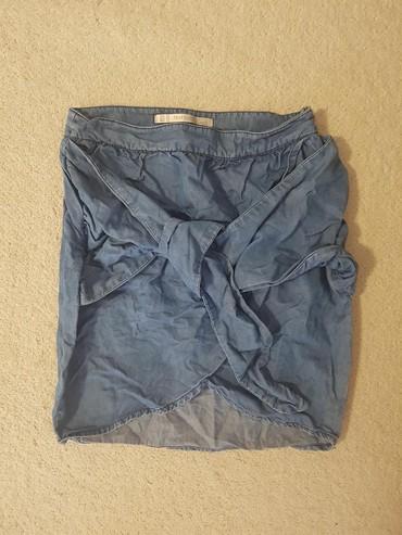 Suknja teksas,samo oprana.Idealna za leto i kombinovanje(na slici - Novi Sad