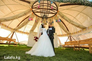 свадебное платье напрокат в Кыргызстан: Свадебное платье, на корсете. Прокат возможно продажа
