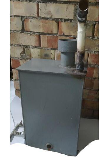 Отопительный газовый котёл, самодельный с керамической горелкой. Качес