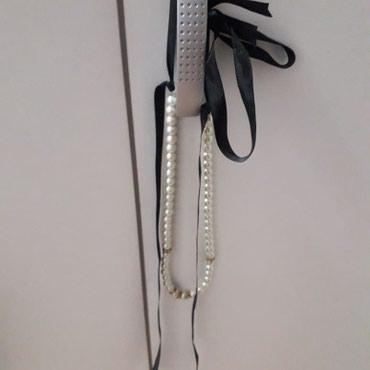 Ogrlica,satenska traka i biseri ostale ogrlice i ostali nakit od - Novi Sad