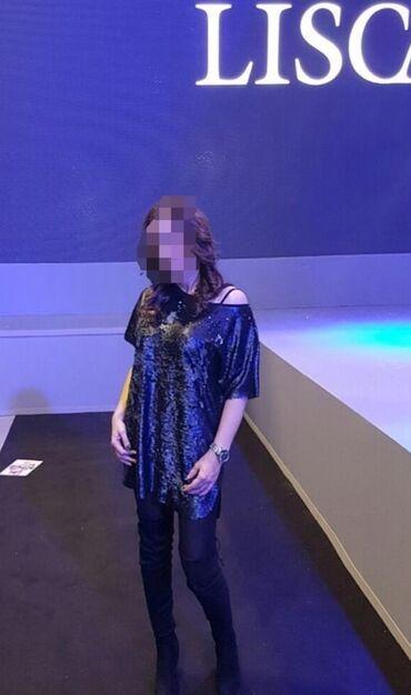 Poliester - Srbija: Atraktivna haljina od krljusticrno - siva varijantapostava od