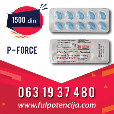 P-FORCE FORT 150 mg TABLETE Novi Sad (P-Force Fort) Proizvođač: Sunris