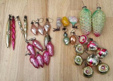 елочные игрушки в Кыргызстан: Елочные игрушки производство СССР.Цена одной игрушки 60 с.Большие