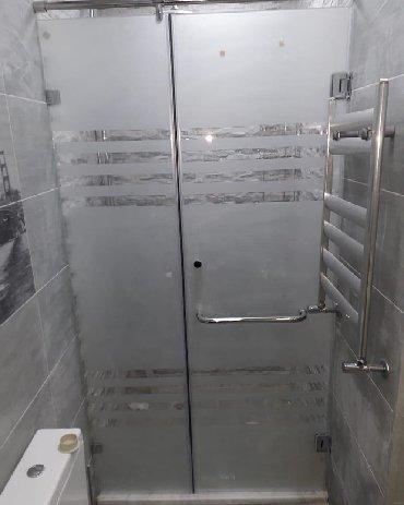 Duş kabin ara bölme sifarişle hazirlanir