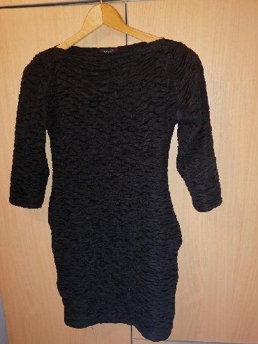 Haljina-marke - Srbija: Klasična crna haljina uzana marke by me, obucena jednom za svadbu