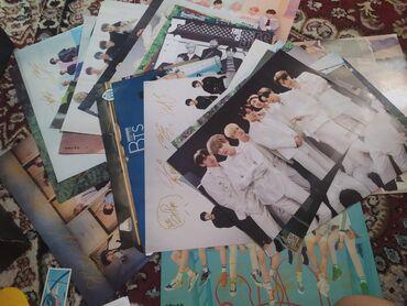 Открытки - Бишкек: Все с BTS Много карточек и плакатов + брелок двухсторонний и веревка с