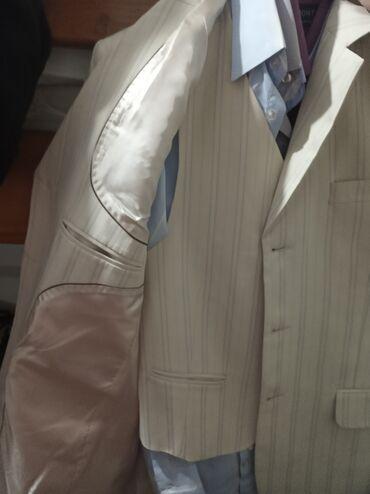 Продается белый костюм, тройка!!!Купили 23 года назад,не разу не