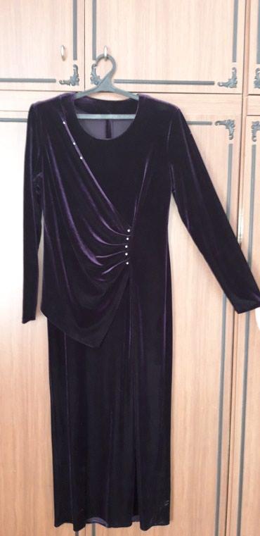 вечернее платье 52 54 размер в Кыргызстан: Платье велюровое. Вечернее. Насыщенного фиолетового цвета. Крой платья