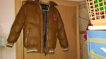 decija perjana  jakna postavljena krznom vel 10 - Beograd