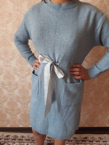 Женская одежда - Кок-Джар: Платье туника тёплое. Одевала 1раз состояние нового. Размер стандарт