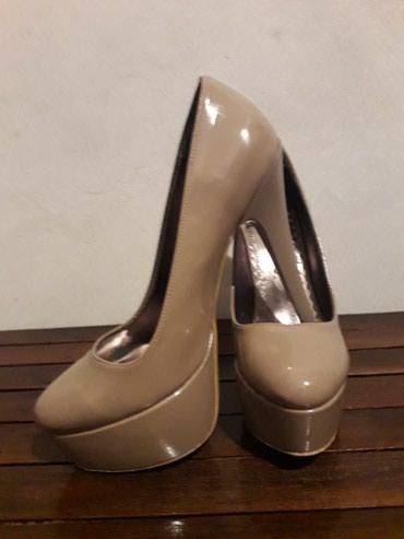 Odan-materijal-broj - Srbija: Polovne cipele, materijal koža, spolja lakovane, boja kože/bež, broj