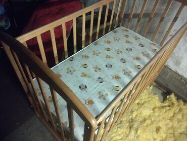 Детский мир - Кемин: Срочно продаю !!!новую!!! детскую кроватку вместе с ортопедическим