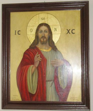 Κάδρα με αγιογραφίες του Χριστού και σε Athens