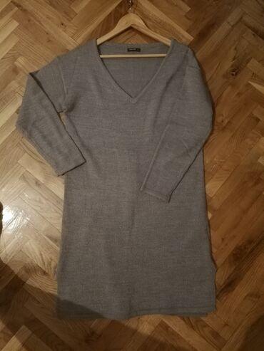 L vel, sivi džemper haljina