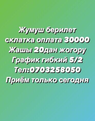 Работа на вынос - Кыргызстан: Помощник завскладом. С опытом. 5/2