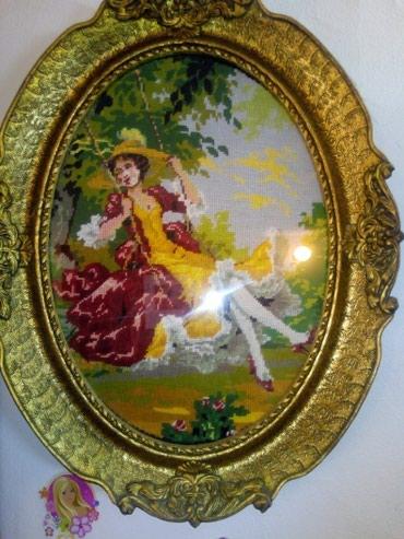 Goblen devojka na ljuljasci - Negotin