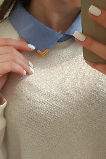 женские-белые-свитера в Азербайджан: Colin's - den sviter Boyunu ve alt hissesi saroçka modelliHec bir