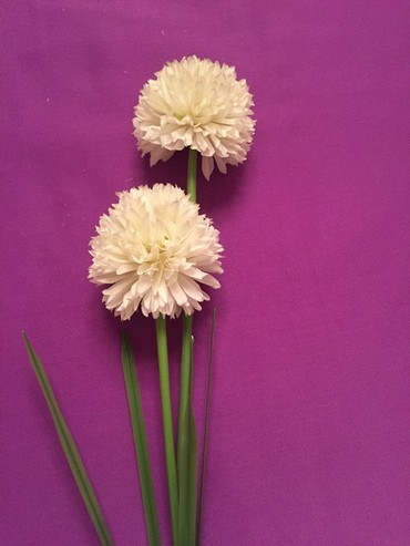 цветы для украшения в Кыргызстан: Цветок искусственный Аллиум для украшения дома. Ветка высотой 93 см