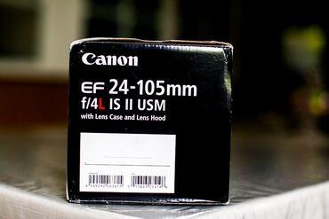 canon-24-105-f4 в Азербайджан: Canon Zoom lens EF 24-105 F4 1:4 L IS II USM (2ci versiya) ideal vəziy