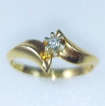 Бриллиант печатка - Кыргызстан: Кольцо из красного золота, 585 проба. Вставка бриллиант. Вставка