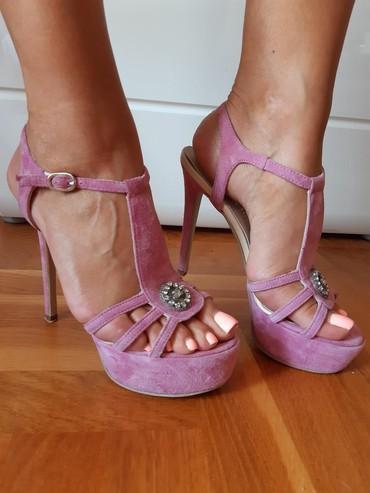 Roze sandale br.37!! Preudobne. Jednom obuvene 500din - Novi Sad - slika 4