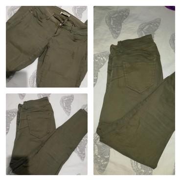 Pantalone tally weijl sa elastinom - Srbija: Tally Weijl maslinasto zelene pantalone. Br 38. Slika sa blicem i bez