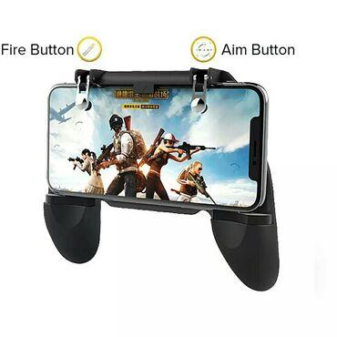 Mobil oyun denetleyici PUGB Joystick Gamepad Metal L1 R1 düğmesi
