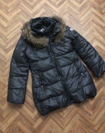 Зимняя куртка  Натуральная дублёнка, мех песец