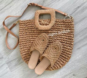 Новая плетенная сумка и обувь из Турции. Обувь 38 размера. По 3000