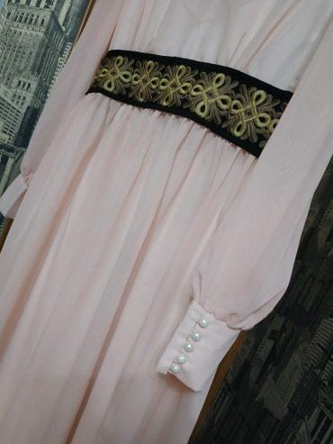 Платье в этно стиле. Цвет персиковый. Размер 46-48. в Бишкек