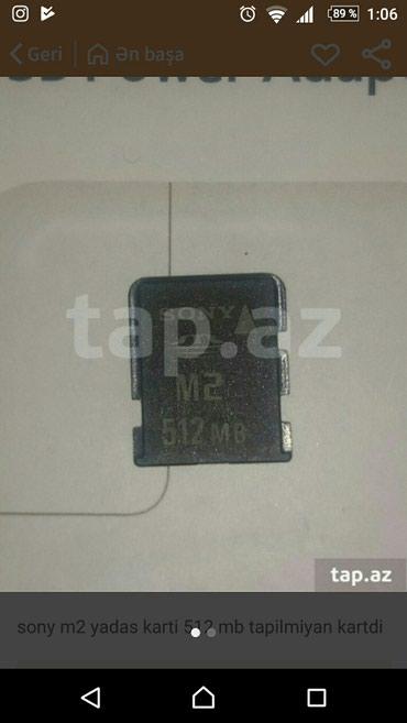 Bakı şəhərində Sony m2 512mb karti tapilmiyan yadas karti