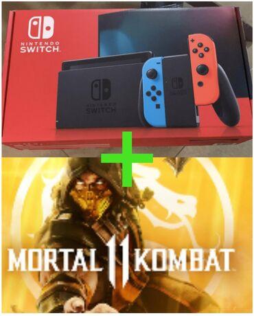 Nintendo Switch - Кыргызстан: • Nintendo switch (revision 2) 24500с  • Mortal Kombat 11 (электронная