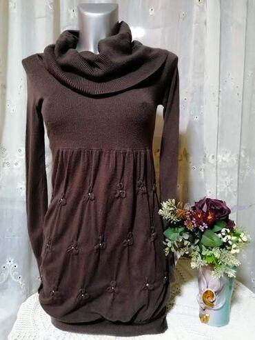 Kvalitetna Preziosa haljina sa rolkom braon boje, bez ikakvih ostecen