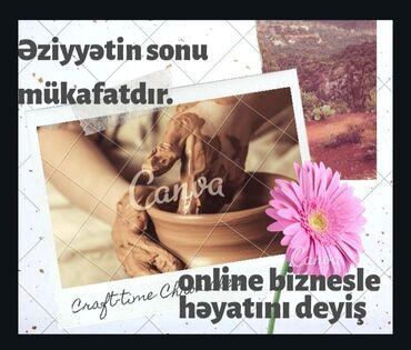 Səbirli, ciddi, meqsedli xanımları online biznese dəvet edirəm rəsmi