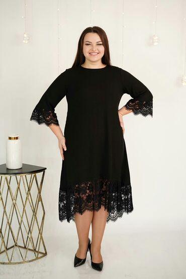 v otlichnom sostojanii botinki в Кыргызстан: Платье-туника Размеры 50-64 Ткань трикотаж