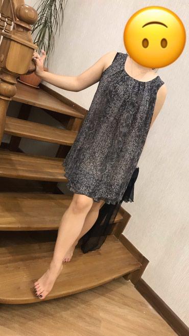 шифоновое платье батал в Кыргызстан: Шифоновое платье. Размер стандартный. В комплетке имеется черный шарф