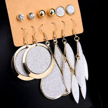 6 pari mindjuša srebrno zlatne boje - Palic